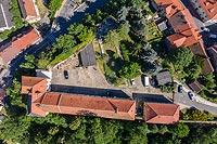 Zamek w Niemczy - Zdjęcie lotnicze, fot. ZeroJeden, VII 2019