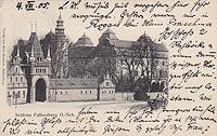 Zamek w Niemodlinie - Zamek niemodliński na widokówce z 1915 roku