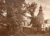 Zamek w Niemodlinie - Zamek w Niemodlinie na zdjęciu A.Jüttnera sprzed 1939 roku