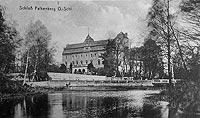 Zamek w Niemodlinie - Zamek na pocztówce z 1915 roku