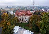 Zamek w Niemodlinie - Zamek na zdjęciu lotniczym, fot. ZeroJeden, X 2020