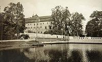 Zamek w Niemodlinie - Zamek na widokówce z 1930 roku