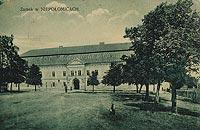 Zamek w Niepołomicach - Zamek na pocztówce z końca XIX wieku
