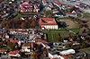Zamek w Niepołomicach - Widok z lotu ptaka od południa, fot. ZeroJeden, X 2013