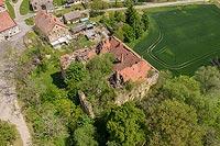 Zamek w Nieszkowicach - Zdjęcie z lotu ptaka, fot. ZeroJeden, V 2020