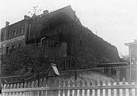 Zamek w Nowem - Zamek w Nowem na zdjęciu z okresu międzywojennego