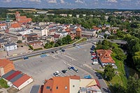 Zamek w Nowym Mieście Lubawskim - Zdjęcie lotnicze, fot. ZeroJeden, VII 2020