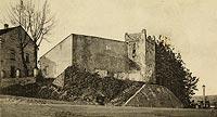 Zamek w Nowym Sączu - Zamek w Nowym Sączu na zdjęciu J.Zajączkowskiego z 1900 roku