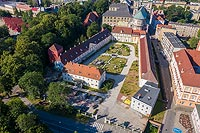 Zamek w Nysie - Zdjęcie lotnicze, fot. ZeroJeden, VII 2019
