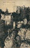 Zamek w Ojcowie - Zamek na pocztówce z 1906 roku