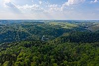 Zamek w Ojcowie - Widok z lotu ptaka, fot. ZeroJeden, V 2020