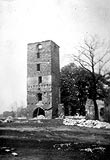 Zamek w Oławie - Wieża zamku w Oławie w 1973 roku