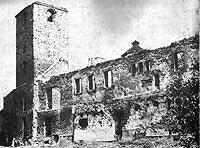 Zamek w Oławie - Ruiny zamku w Oławie w 1971 roku