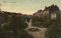 Zamek w Oławie - Plac Zamkowy w Oławie w okresie międzywojennym