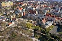 Zamek w Oławie - Zdjęcie lotnicze, fot. ZeroJeden, IV 2021