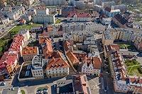 Zamek średniowieczny w Oławie - Zdjęcie lotnicze, fot. ZeroJeden, IV 2021