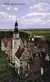 Zamek w Oleśnicy - Zamek w Oleśnicy na pocztówce z 1918 roku