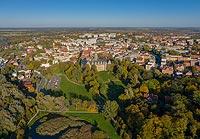 Zamek w Oleśnicy - Zdjęcie lotnicze, fot. ZeroJeden, X 2019