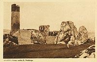 Zamek w Olsztynie - Zamek na zdjęciu z lat 40. XX wieku