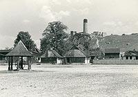 Zamek w Olsztynie - Ruiny zamku w Olsztynie na zdjęciu Henryka Poddębskiego z 1932 roku