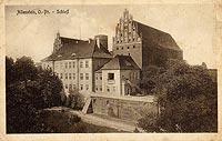 Zamek w Olsztynie - Zdjęcie z widokówki z pierwszej połowy XX wieku
