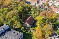 Zamek w Opatówku - Zdjęcie lotnicze, fot. ZeroJeden, X 2019