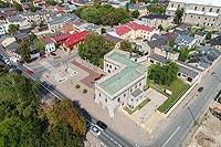 Opoczno - Widok zamku z lotu ptaka, fot. ZeroJeden VIII 2018