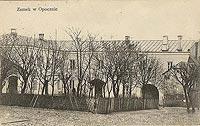Zamek w Opocznie - Zamek na widokówce z 1915 roku