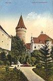 Zamek na Ostrówku w Opolu - Zamek w Opolu na zdjęciu z lat 20. XX wieku