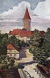 Zamek na Ostrówku w Opolu - Zamek na widokówce z 1938 roku