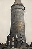 Zamek na Ostrówku w Opolu - Wieża zamkowa w 1931 roku