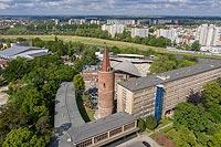 Zamek na Ostrówku w Opolu - Zdjęcie z lotu ptaka, fot. ZeroJeden, V 2020