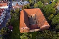 Zamek w Ostródzie - Zdjęcie lotnicze, fot. ZeroJeden, IX 2021