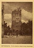 Zamek w Ostrzeszowie - Wieża zamkowa w 1946 roku
