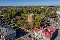 Zamek w Ostrzeszowie - Zdjęcie lotnicze, fot. ZeroJeden, X 2019