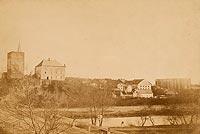 Zamek w Oświęcimiu - Zamek w Oświęcimiu na zdjęciu lat 1875-1900