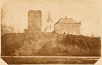 Oświęcim - Zamek w Oświęcimiu na zdjęciu lat 1875-1900