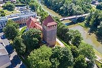 Oświęcim - Widok zamku na zdjęciu lotniczym, fot. ZeroJeden, VI 2019