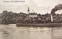 Zamek w Otmęcie - Zamek w Otmęcie na pocztówce z 1931 roku