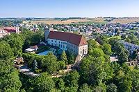 Zamek w Otmuchowie - Zdjęcie lotnicze, fot. ZeroJeden, VII 2019