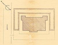 Dwór we Frydmanie - Pomiar inwentaryzacyjny z 1930 roku. Plan sytuacyjny