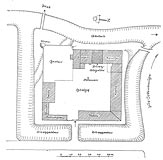 Zamek w Grabinach-Zameczku - Plan zamku z 1940 roku