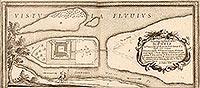Zamek w Świeciu - Plan zamku na sztychu Erika Dahlbergha z dzieła Samuela Pufendorfa 'De rebus a Carolo Gustavo gestis', 1656 rok