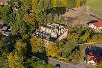 Zamek w Pankowie - Zdjęcie lotnicze, fot. ZeroJeden, X 2019