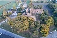 Zamek w Papowie Biskupim - Zdjęcie lotnicze, fot. ZeroJeden, X 2018