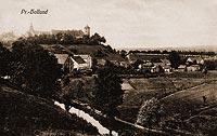 Zamek w Pasłęku - Pasłęk na pocztówce z 1913 roku