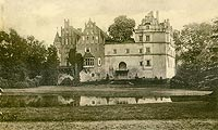 Zamek w Pęzinie - Zamek w Pęzinie na widokówce z początków XX wieku