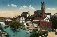 Pieniężno - Zamek w Pieniężnie na pocztówce z 1905 roku