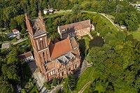 Zamek w Pieniężnie - Zdjęcie lotnicze, fot. ZeroJeden, IX 2021