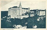 Zamek Pieskowa Skała - Zamek Pieskowa Skała na pocztówce z okresu międzywojennego